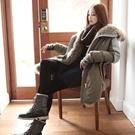 韩国代购SZ正品优雅宽松纯色棉衣长款SZ-SZ134C355