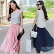 2015春夏装新款韩版女装甜美公主沙滩长裙气质时尚背心雪纺连衣裙