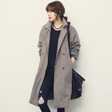 naning9-2015新款女装  宽松舒适纯色长款外套