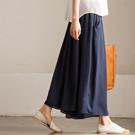 K7382A 韩版大气垂感显瘦纯色阔腿裙裤女 2015新夏款【米可可】