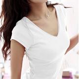 【特价纯棉t恤】2015春秋装韩版纯棉上衣女夏装紧身显瘦半袖