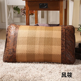 一对装古藤夏季原藤席枕席片 夏凉枕头罩枕皮枕芯套 凉席枕套