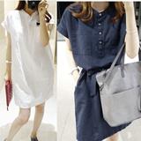 韩版春夏新款修身甜美白衬衫收腰打底裙气质显瘦女装连衣裙  1186#