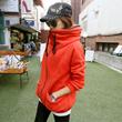 韩国pippin2014秋冬新款韩版加绒卫衣 女中长款开衫外套67551