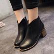 【团购特价时尚女鞋】来自韩国官网的新款加厚底裸靴