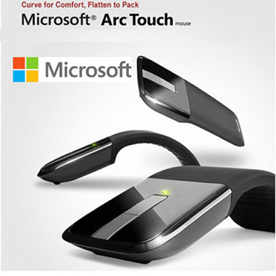 Brand New Microsoft Arc Touch Mouse - Black 2 buttons / touch wheel ( to scroll)/ Arc Touch Bluetoo