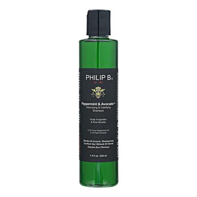 菲利普B薄荷&鳄梨丰盈&澄清的洗发水7.4盎司,220毫升