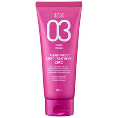 Amos Repair Force ChitoTreatment CMC 200ml for dry damaged hair / Silk touch amos professional REPA