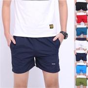 夏季薄款日系纯色棉质男士三分裤休闲运动短裤宽松大码沙滩裤