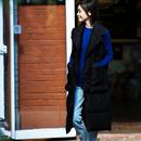 米可可   V9002文艺大码韩版加厚大兜中长款面包棉马甲女 18冬新