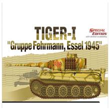 学院13299 Tiger-I Gruppe Fehrmann Essel 1945坦克塑料模型套件