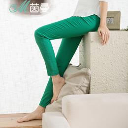 茵曼 新款简约多口袋百搭显瘦铅笔裤长裤多色8513600714