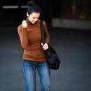 Z2557  秋冬季羊毛高领小扣螺纹打底衫内搭显瘦堆堆领薄针织衫女米可可