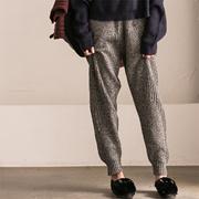 K3950A 通勤文艺花线直筒显瘦加厚针织休闲裤女 冬【米可可】