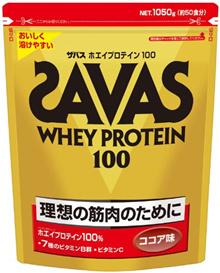 Savas乳清蛋白100可可味[50份] 1050g肌肉蛋白日本