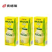 【海地村】韩国食品进口  宾格瑞香蕉味牛奶 200ml*3盒  200ml*6盒  儿童早餐奶韩国原装进口