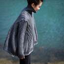 M8819 文艺气质纯色宽松百搭加厚高领套头绞花毛衣女冬2019新款米可可
