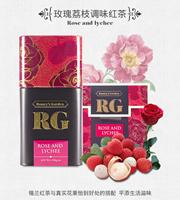 蕾米花园(RameysGarden)斯里兰卡进口红茶荔枝玫瑰调味茶罐装100g