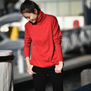 Z2663 多色入百搭高领套头宽松打底衫纯棉长袖针织衫女2019新款米可可
