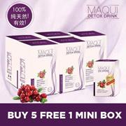 免费1个MINI BOX(7个SACHS)~~ 5盒MAQUI DETOX ~~ MAQUI排毒浆果SLIMMING
