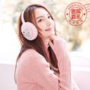 可爱冰淇淋图案耳包 冬季保暖耳罩 女士可折叠耳包 护耳朵毛绒 加绒防风