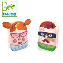 DJECO JEKO木制磁铁Toronbino DJ03080 [JEKO / DJECO /含的脸/婴儿礼品/生日/圣诞礼物/女孩/家伙的磁铁/男孩的脸/女孩磁铁/木罐