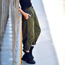 K1336 韩版捏褶宽松百搭显瘦纯棉军绿色休闲帅气工装裤女2019秋米可可