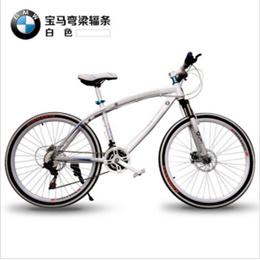 包邮 宝马26寸山地车自行车一体轮24速双碟刹男女单车