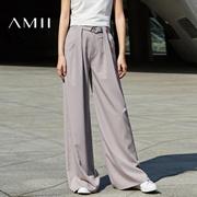 Amii2017春装新品时尚女王范宽松显瘦阔腿裤女11760610