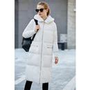 Amii实穿时髦 90白鸭绒毛绒连帽羽绒服女 冬装新宽松保暖长款外套
