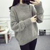 高领套头学生毛衣女装新款秋冬季加厚上衣针织衫宽松韩版外套潮
