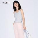 【特價】AmiiAmii[極簡主義]2017夏新品百搭休閑吊帶背心11763057