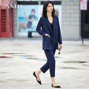 Amii[极简主义]春新品时尚oversize显瘦西装套装 11761312