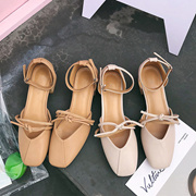 包头凉鞋女学生夏2018新款韩版百搭仙女鞋chic复古粗跟中跟玛丽珍