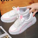 2017春秋韩版小白女鞋运动鞋休闲鞋系带平底白色女单鞋学生板鞋潮
