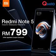(应用优惠券折扣)预购Redmi Note 5 3GB / 32GB,4GB / 64GB小米马来西亚保修-ETA 5