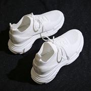 2018夏季白色运动鞋韩版ulzzang原宿百搭内增高老爹鞋女网面透气
