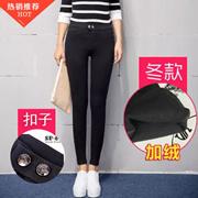 【100%韩国正品】 SP68系列魔术裤|冬款加绒|修身显瘦|打底百搭|高腰长裤|小黑裤铅笔裤