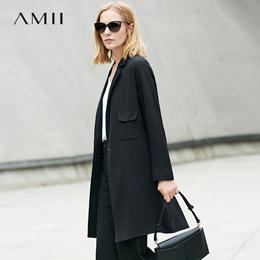 Amii极简ins通勤chic港味ulzzang西装女2018春装宽松显瘦百搭上衣
