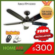 Fanco FFM 6000 48寸吊扇/ 1077灯套件和原装Fanco遥控器。免费安装