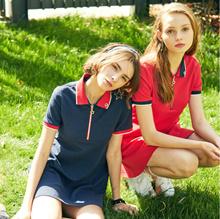 【ELAND】R.athletic|POLO skirt|sweet|T-shirt skirt|short sleeve dress|RAOM72502K