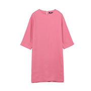 SPAO女式连衣裙简约宽松显瘦中长款圆领连衣裙SPOW724G16