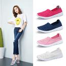 夏季透气镂空编织女鞋运动鞋妈妈鞋软底健步鞋网鞋老北京布鞋单鞋