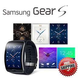 Samsung Galaxy Gear S  USED Sm-r750 Smart Watch Wearable Device (Black/White) Produced in Korea  /Ge