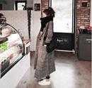 【ME2YO】2017冬装韩版女装复古长款格子毛呢外套 Winter Long Coat