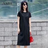 Amii[极简主义]2017夏新品可爱气质短袖连衣裙  11761539