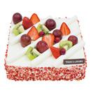 (北京)方形草莓鲜奶油蛋糕