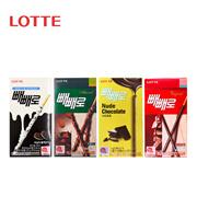 【海地村】韩国食品进口 乐天巧克力棒 4款口味|巧克力夹心棒43g|白巧克力棒32g|巧克力棒46g|乐天碎扁桃仁巧克力棒 32g|饼干休闲零食