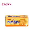 【海地村】韩国食品进口 crown可瑞安奶酪芝士夹心薄脆饼干60g/盒进口休闲零食点心