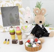 Le Sucre兔子日本韩国糖兔子婚礼套装(2件)w礼品盒
